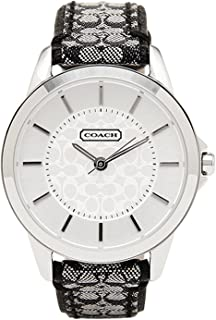 Women's Classic Signature Strap Watch Silver/Black One Size