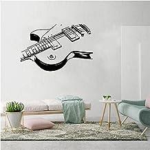 WYLYSD Pegatina De Pared De Guitarra Musical, Decoración De Dormitorio, Sala De Música, Calcomanías De Arte Mural, Papel T...