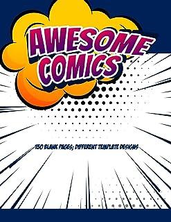 Blank Comic Book For Adults, Teens & Kids: Comics Strip Writing Cartoons Journal, Manga Notebook Template For Children Gir...