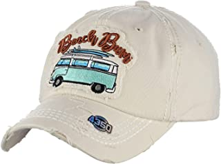 2c76b93b0a68a4 NYFASHION101 Womens Baseball Cap Distressed Vintage Unconstructed  Embroidered Dad Hat