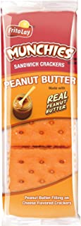 Munchies Cracker Sandwiches, Peanut Butter On Cheese, 136.32 Ounce (Pack of 96)