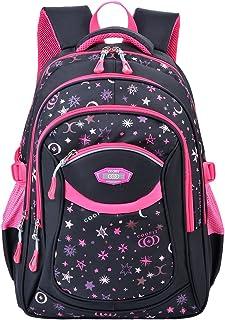 COOFIT Schulrucksack,Coofit Schulrucksack Mädchen Teenager Kinderrucksack Daypack Schultasche Grundschule Backpack Schulranzen für Mädchen Jungen Teenager Jugendliche Rosy.