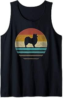 Retro Vintage Sunset Papillon Dog Lover Silhouette Gift Tank Top