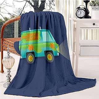 RECETHROWS The Mystery Machine Plush Throw Blanket Soft Receiving Blanket Bed Throws Christmas Sofa Shawl Blanket Kid Nursery Emergency Blanket for Living Room