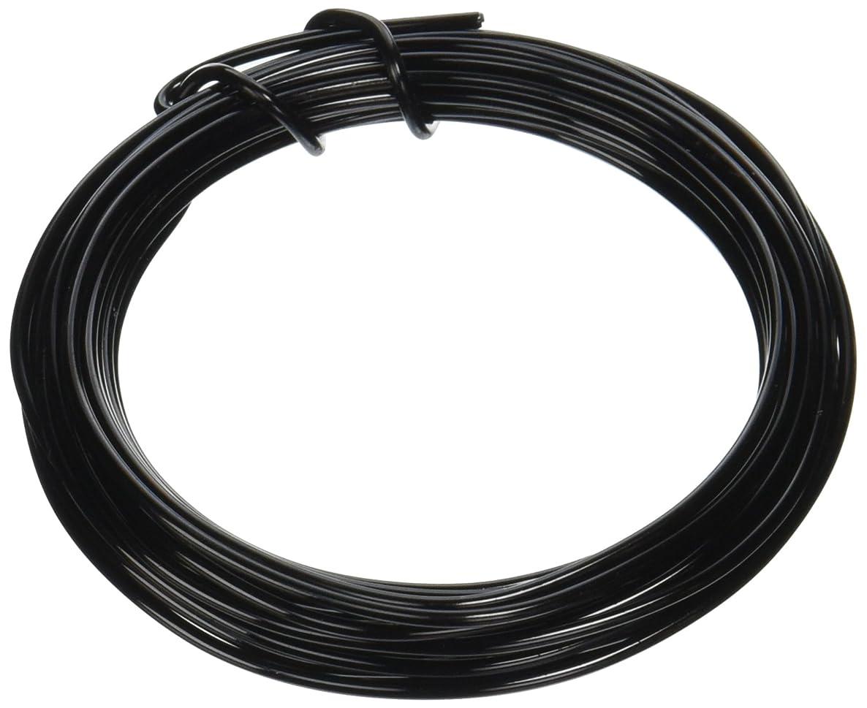 Darice 1186-56 Aluminum Floral Wire 12 Gauge 5 Yd, Black