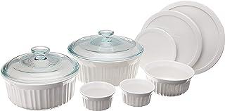 CorningWare French White Ceramic Bakeware, 10-Piece