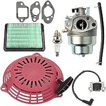Savior HRR216 Carburetor & Air Filter Kit with Recoil Pull Starter Ignition Coil for Honda GCV160 Carburetor GCV160A GCV160LA GCV160LE GCV160A0 GCV160LA0 HRB216 HRS216 HRT216 HRZ216 Lawn Mowner