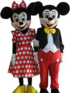 Mickey Mouse Minnie Mouse Adults Mascot Costumes Cosplay Fancy Dress Outfits