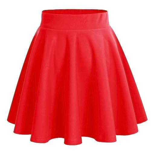 07ff3dc55 Falda Roja Mujer: Amazon.es