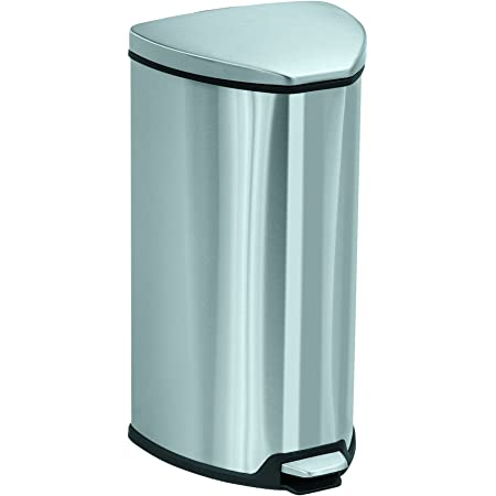Safco Products Stainless Step On Trash Can 7 Gallon Stainless Steel Furniture Decor