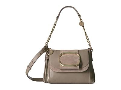 See by Chloe Hopper Hobo (Motty Grey) Handbags
