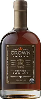 Crown Maple Organic Grade A Maple Syrup, Bourbon Barrell Aged, 25.4 Ounce