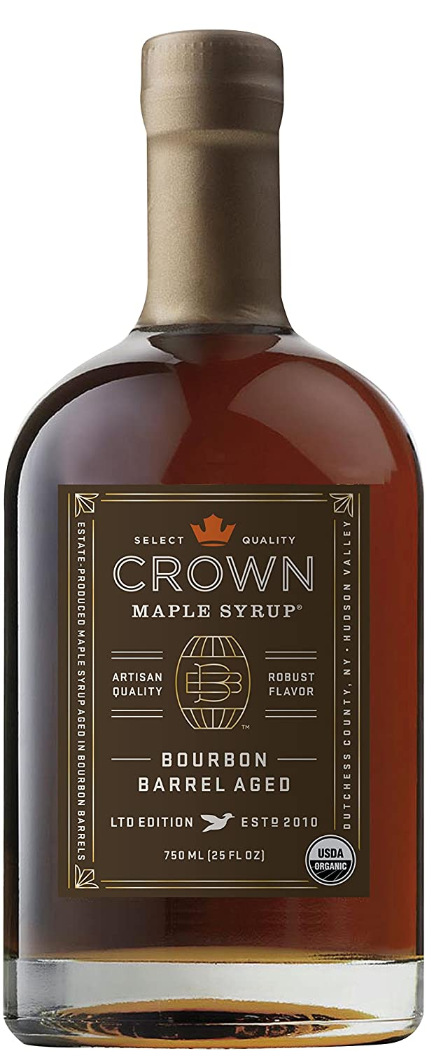 Crown Maple® Bourbon Barrel Aged organic 750ML maple Opening large release sale sold out syrup F 25