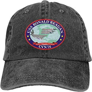 Xia Wen USS Ronald Reagan CVN-76 Summer Cool Heat Shield Unisex Adult Cowboy Hat