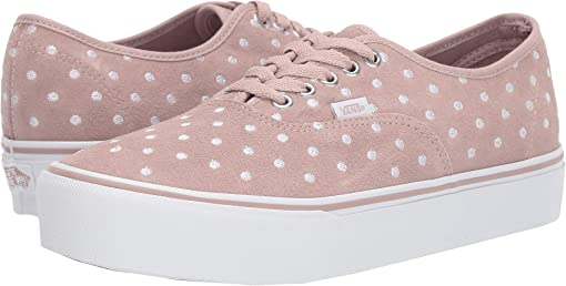 (Suede Polka Dot) Shadow Grey/True White