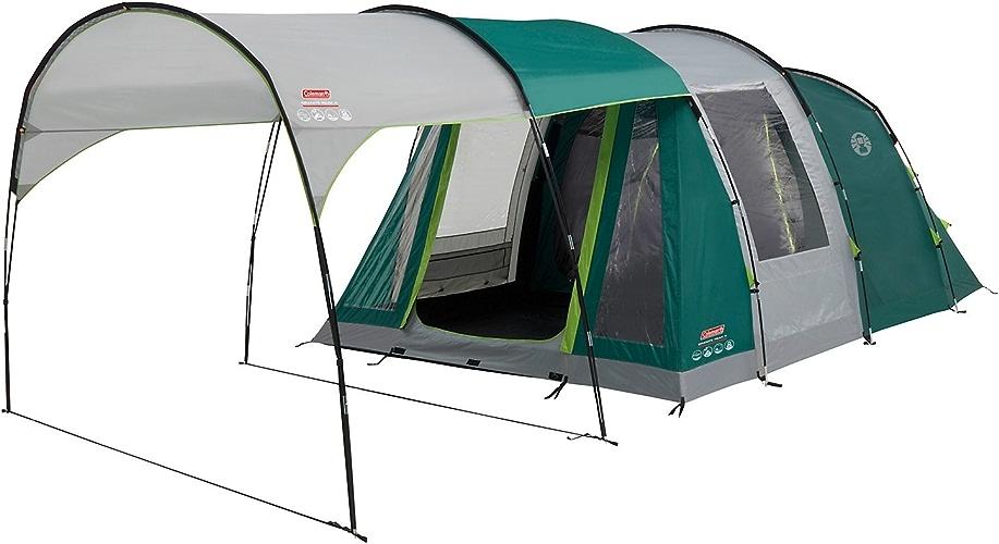 Colehomme Tente Granite Peak 4, Grande Tente de Camping avec 2 Chambres, Toile de Tente 4 personnes avec Technologie noirOut Bedroom, Tente Familiale 4 Places, Tente Tunnel avec Auvent