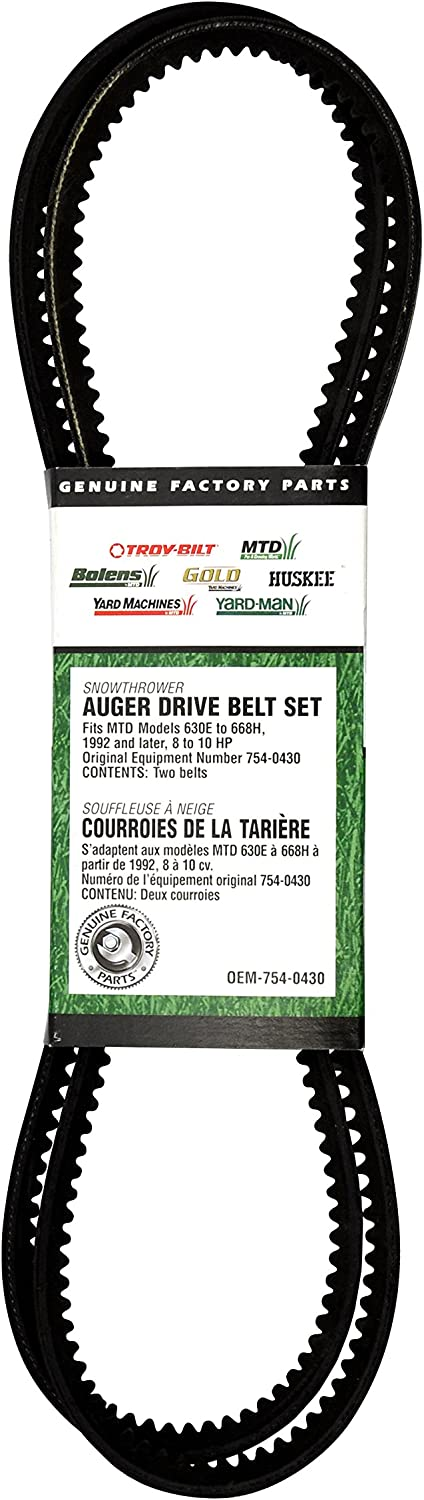 MTD 954-0430C Replacement Belt 3//8-Inch by 35-Inch Black