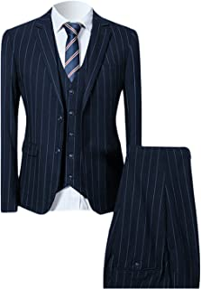 a navy blue suit