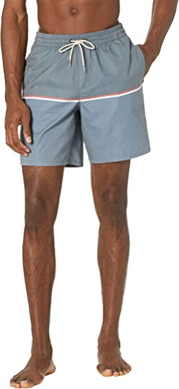 The Deck Stripe Volley 18 Boardshorts