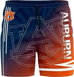 ZEWLLY University Team Men's Training Shorts Swim Gradient Suit Trunks Quick Dry Athletic Sportwear for Men