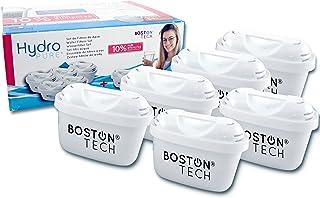 Boston Tech Hydro Pure + 6 Cartouches, filtres compatibles Brita Maxtra Eau avec des cruches et Maxtra +, Effet prolongé (...