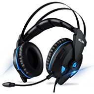 KLIM Impact Gaming Headset - PS4 and PC - USB 7.1 Surround Sound - Noise Cancelling Headphones -...
