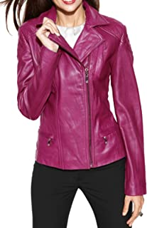 SKINOUTFIT Womens Leather Jacket Stylish Motorcycle Biker Genuine Lambskin 79
