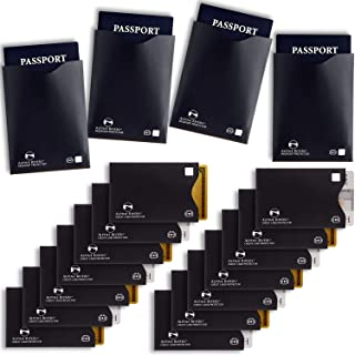 18 RFID Blocking Sleeves (14 Credit Card Holders & 4 Passport Protectors) Ultimate..