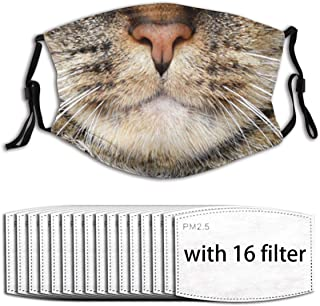 Katzenmund Unisex waschbar und wiederverwendbar Gesicht schützen im Freien mit 6 Filter