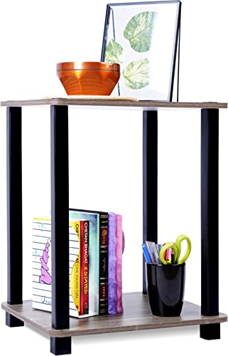 STAR WORK - Standing End Table and Shelf   Tier Floor Wall Shelves Living Bed Room Home Office   Multipurpose Organiz...
