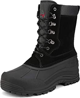NORTIV 8 Men's Insulated Waterproof Winter Snow Boots