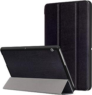 【Trocent】Huawei MediaPad T2 8.0 Pro ケース 耐衝撃 全面保護 ケース MediaPad T2 8.0 Pro カバー スタンド機能付き 防水 防汚れ マグネット自動吸着カバー (MediaPad T2 8 Pro, 三つ折ブラック)