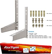 AlexVyan Certified Special Coated Super Quality Split Ac Air Conditioner Outdoor Unit Wall Mounting Bracket Stand for 1 Ton, 1.1 Ton, 1.2 Ton, 1.5 Ton, 2 Ton Outdoor Units (Pack of 1)