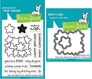 Lawn Fawn How You Bean Stars Add-On Clear Stamps and Dies - Two Item Bundle
