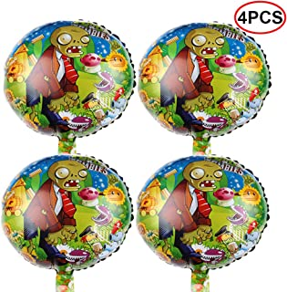 Bsstr 4PCS Plants VS Zombies Balloons Party Supplies 18
