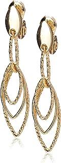 Women's Gold Diamond Textured Linear EZ Comfort Clip...