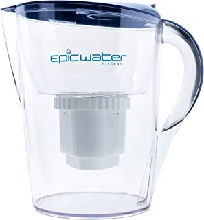 Epic Pure Water Filter Pitcher | Navy Blue | 3.5L | 100% BPA-Free | Removes Fluoride, Lead, Chromium 6, PFOS PFOA, Heavy M...
