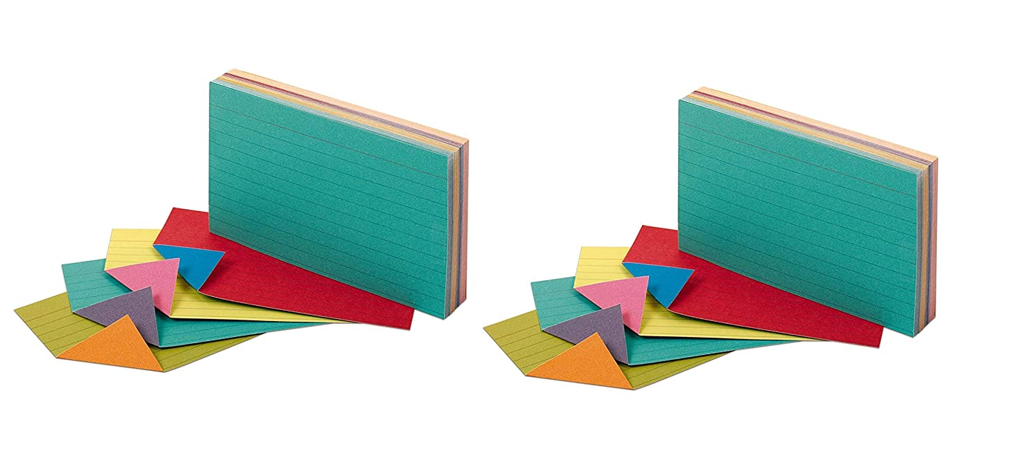 Oxford Extreme Index Cards, 3 x 5 Inches, Assorted Colors (2 Pack)
