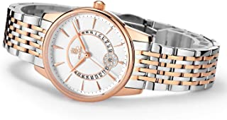 Women's Wrist Watch ROCOS Japanese Quartz Rose Gold Dress Watch with White Dial Ladies Crystal Analog Watches Luxury Classic Elegant Gift #R0120