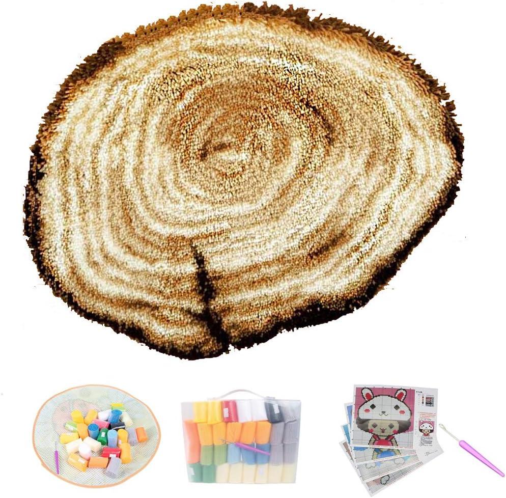 DIY Handmade Latch Hook Kits Carpet NEW before selling ☆ Sale item of Trunk 3D Tree R Ring