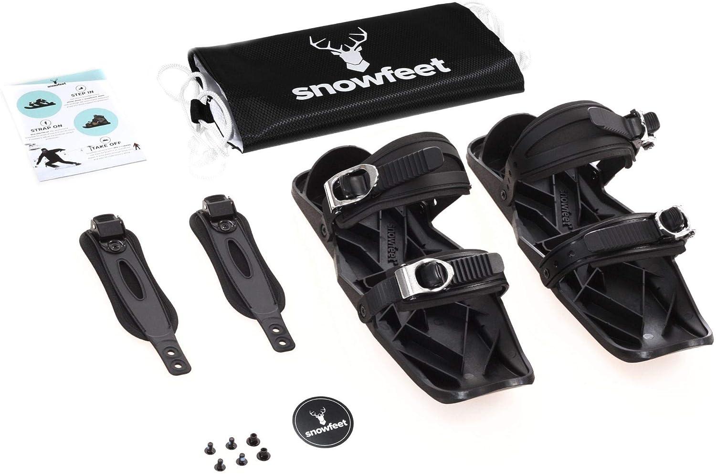 Snowfeet Mini Skates f/ür Schnee Die kurzen Skiboard Snowblades Die echten Original Variationen