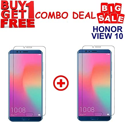 Kite Digital Honor View 10 Premium Tempered Glass Screen Protector Slim 9H Hard 2.5D (Pack of 2)