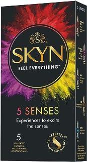 SKYN 5 Senses, preservativos sin látex, paquete de 5 condones