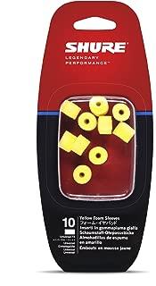 Shure EAYLF1-10 Foam Sleeves (10 Included/5 Pair) for SCL3, SCL4, SCL5, E3c, E4c, E5c, E500 & SE Earphones (Yellow)