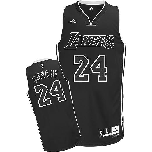 NBA Men's Los Angeles Lakers Kobe Bryant Black-Black-White ...