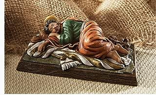 Beautiful Sleeping Saint Joseph Figure Carefully Highly Detailed Hand Painted. Gift Boxed