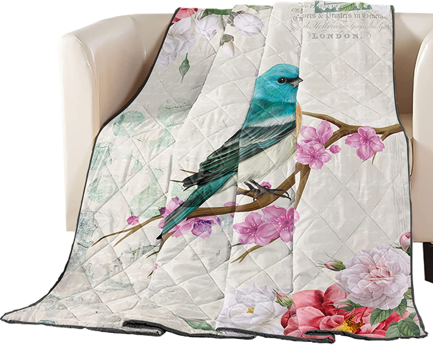 Elegant Arts Print Twin Size Quilt Throw Lightweight Soft All Bedspread Free shipping on posting reviews