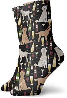Calcetines de algodón para hombre, diseño de caniche