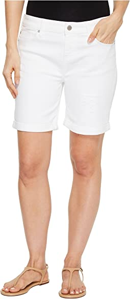 Corine Walking Shorts with Destruct in Comfort Stretch Denim in Powder Destruct