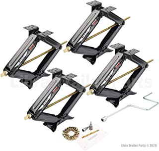 LIBRA Set of 4 5000lbs RV Trailer Stabilizer Leveling Scissor Jacks w/Dual Power Drill..